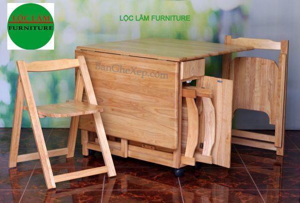 Ban Ghe Xep Gap Tu Nhien CHu Nhat Thong Minh Loc Lam Furniture